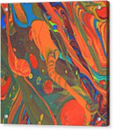 Abstract Paint Background Acrylic Print