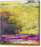 Abstract Painted Yellow Art Backgrounds Acrylic Print