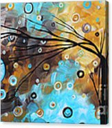 Abstract Painting Chocolate Brown Whimsical Landscape Art Baby Blues By Madart Acrylic Print