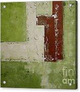 Abstract Painting Green 13013 Acrylic Print