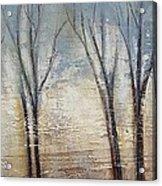 Abstract Painting Morning Fog Acrylic Print