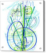 Abstract Pen Drawing Fifty-eight Acrylic Print