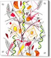 Abstract Pen Drawing Fifty-five Acrylic Print