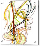 Abstract Pen Drawing Fifty-nine Acrylic Print