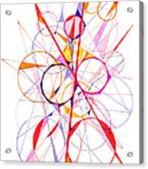 Abstract Pen Drawing Fifty-one Acrylic Print