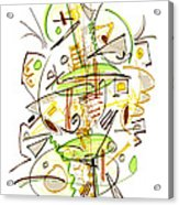 Abstract Pen Drawing Fifty-seven Acrylic Print