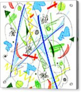 Abstract Pen Drawing Fifty-three Acrylic Print