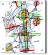 Abstract Pen Drawing Forty-nine Acrylic Print