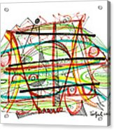 Abstract Pen Drawing Forty-seven Acrylic Print