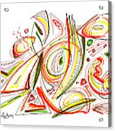 Abstract Pen Drawing Forty-six Acrylic Print