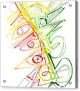 Abstract Pen Drawing Seventy-one Acrylic Print