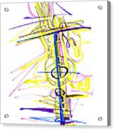 Abstract Pen Drawing Seventy-two Acrylic Print