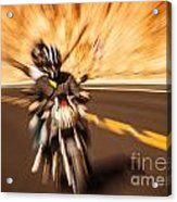 Abstract Photo Of Riders Acrylic Print