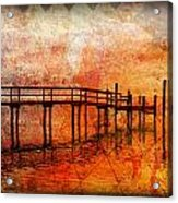 Abstract Pier Acrylic Print