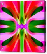 Abstract Pink Tree Symmetry Acrylic Print by Amy Vangsgard