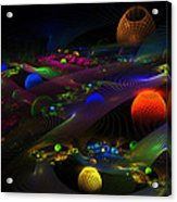 Abstract Psychedelic Fractal Art Acrylic Print