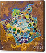 Abstract Rain Drop Acrylic Print