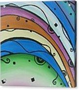 Abstract Rainbow Acrylic Print by Juan Molina