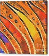 Abstract Rainbow Tiger Stripes Acrylic Print by Pixel Chimp