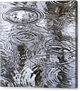 Abstract Raindrops Acrylic Print by Christina Rollo