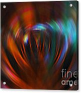 Abstract Red And Green Blur Acrylic Print