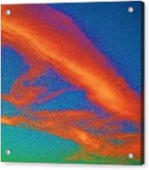 Abstract Red Blue And Green Sky Acrylic Print