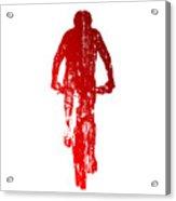 Abstract Red Mountain Biking Acrylic Print