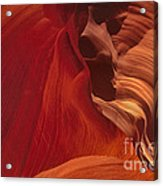 Abstract Red Sandstone Formations Lower Antelope Slot Acrylic Print