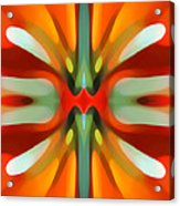 Abstract Red Tree Symmetry Acrylic Print by Amy Vangsgard