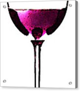 Abstract Red Wine Glass 2 Acrylic Print