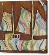 Abstract Sailboat Acrylic Print
