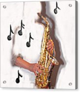 Abstract Saxophone Player Acrylic Print