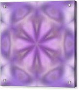 Abstract Soft Tones Of Purple Acrylic Print