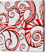Abstract - Spirals - Peppermint Dreams Acrylic Print