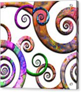 Abstract - Spirals - Planet X Acrylic Print