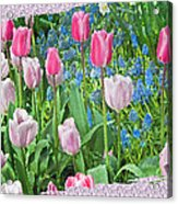 Abstract Spring Floral Fine Art Prints Acrylic Print