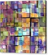 Abstract  Squares Acrylic Print