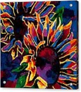Abstract Sunflowers Acrylic Print