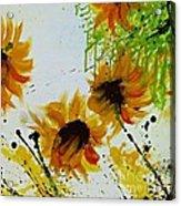 Abstract Sunflowers Acrylic Print