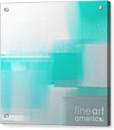 Abstract Teal Square Acrylic Print