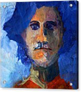 Abstract Thinking Man Portrait Acrylic Print