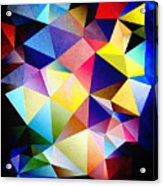 Abstract Triangles And Texture Acrylic Print