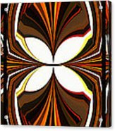 Abstract Triptych - Brown - Orange Acrylic Print