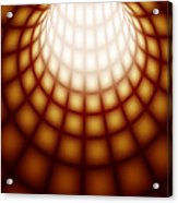 Abstract Tunnel Line Technology Background Acrylic Print