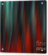 Abstract Vertical Red Green Blur Acrylic Print