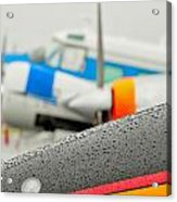 Abstract View Of Airshow During A Rain Storm Acrylic Print