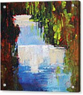 Abstract Waterfall Painting Acrylic Print