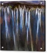 Abstract Waterfalls Childs National Park Painted  Acrylic Print