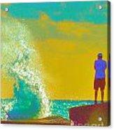 Abstract Wave Crash Acrylic Print