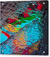 Abstract Wet Pavement Acrylic Print